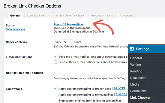Broken Links Checker WordPress Plugin